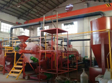 Palm Shell Charcoal Production Equipment for Sale