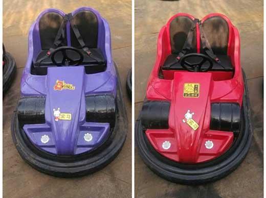 Funfair dodgem bumper cars