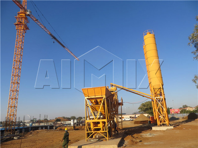 Mobile concrete mixing plant for sale